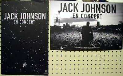 JACK JOHNSON 2009 en concert 2 sided promo poster MINT condition NEW old stock