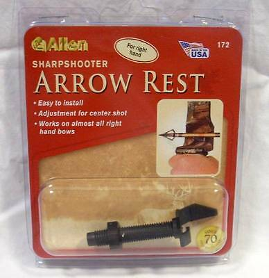 Allen Archery Sharpshooter Arrow Rest Right Hand #172 Bowhunting