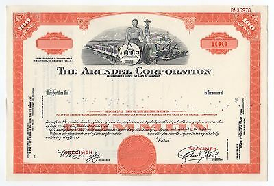 SPECIMEN - The Arundel Corporation Stock Certificate