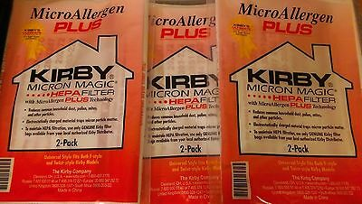 6 Pk RED Genuine Kirby Bag Avalir Sentria Micro Magic Allergen PLUS HEPA 205814