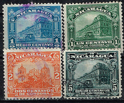 Nicaragua Famous Architecture stamps 1920