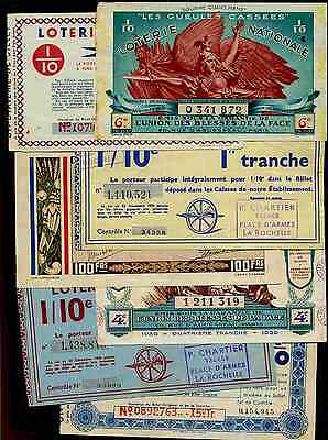 France. Loterie Nationale, 21 tickets, inc 0 341 872.