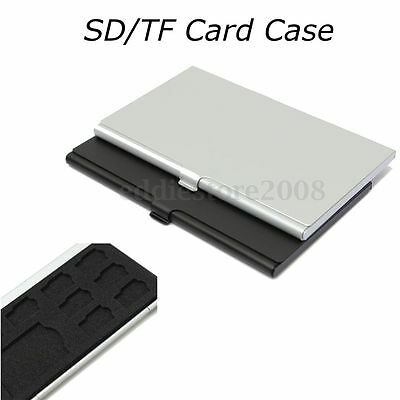 9 Micro SD/SD Memory Card Storage Holder Box Protector Metal Cases 8 TF&1 SD