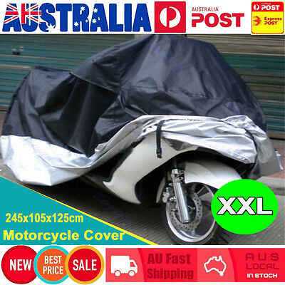 XXL Motorcycle Waterproof Outdoor Vented Motor Bike Scooter Dust Rain Cover AU
