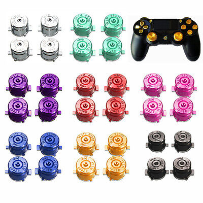 4Pcs Multi Colors Metal Bullet Buttons Mod Set For PlayStation 4 PS4 Controller