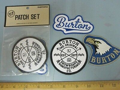 BURTON snowboard 2015 PROMO 3 PATCH SET ~NEW IN PACKAGE~!!