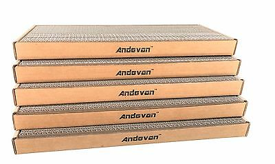 Andevan™ USA Made Durable Corrugated Cardboard Cat Scratching Pad/Board w/ tray