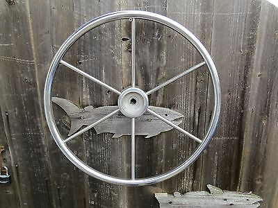 Authentic 20 Inch Stainless Steel Boat Ships Wheel Sailboat Decor (#980)
