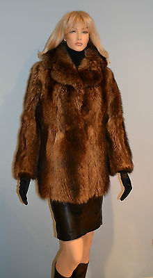GENIUNE RACCOON coyote FUR Jacket, xs - small