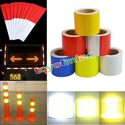Reflective Safety Warning Conspicuity Tape Film Sticker for Cars 30CM 3M 5M NEW