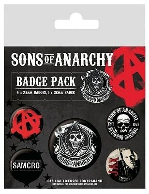 Sons of Anarchy Buttons Pack schwarz