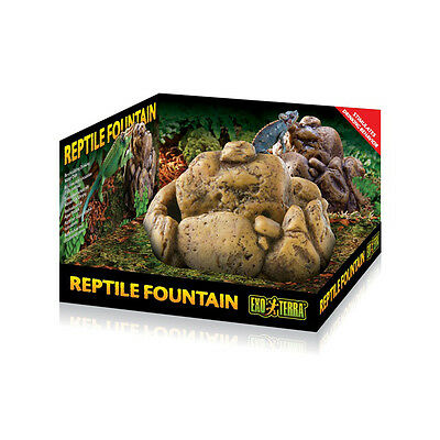Exo Terra Reptile Fountain Dish with pump reptiles, lizards, frogs, amphibians