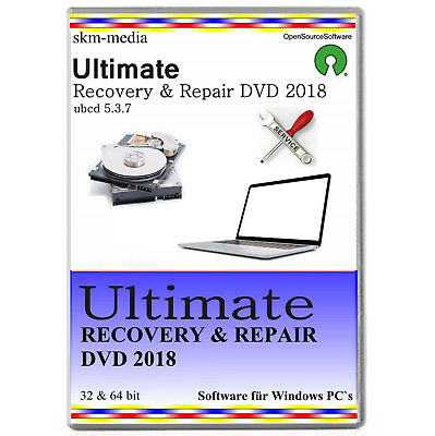 Recovery & Repair CD / DVD - Windows 10, 8, 7, XP  32 64 Bit   ✔2018