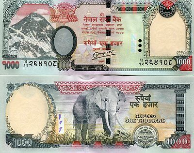 Nepal 1000 Rupees Nd(2012) P-68-New Unc