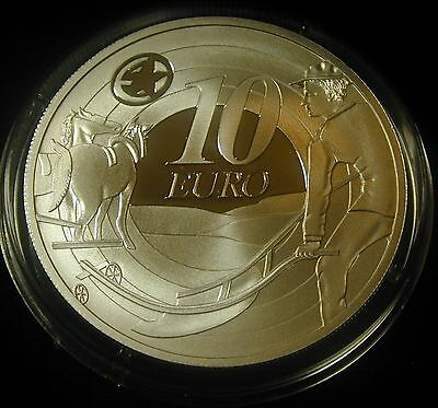 Ireland: Irish 10 Euro Silver  Proof Coin 2009. Ploughman. Uncirculated
