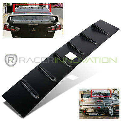 For 08-15 Mitsubishi Lancer ABS Plastic Black Shark Fin Rear Roof Spoiler Wing