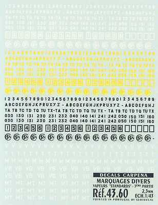 Colorado Decals O-Gauge STEAM ENGINE NUMBERS LETTERS STANDARD Part 3