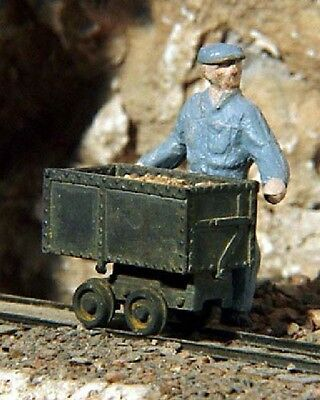 S SCALE/Sn3 WISEMAN MODEL SERVICES T-2224 3 MINE PUSH CARS KIT