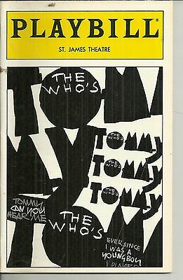 Playbill The Who Who's Tommy St James Theatre Mar 1995 FREE SHIPPING []