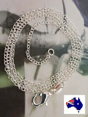 925 Sterling Silver Filled Fine Link Chain Necklace 1.5mm 18 20 22 24 Inch ""