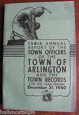 Town of Arlington Ma 1960 Annual Report (376-page book)