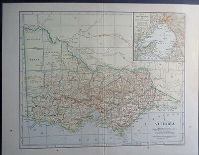 1906 Victoria Australia  Port Phillip Melbourne  Dodd, Mead Co. Colorful Map