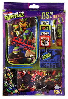 Ninja Turtles 3DS XL DSi XL / DSi Accessory Kit - Case Headphones, Stickers