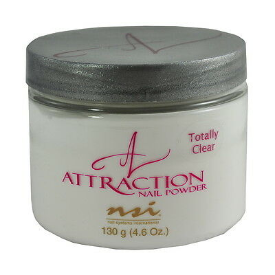 nsi Attraction Nail Acrylic Powder Totally Clear 4.6 oz 130g
