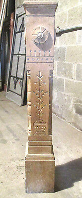 ~ Antique Carved Oak Newel Post ~ 46 Tall ~ Architectural Salvage ~