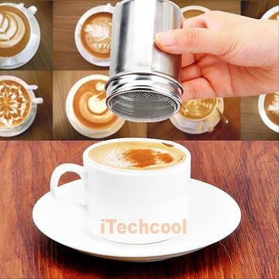 Flour Icing Sugar Cappuccino Sifter Lid Chocolate Shaker Cocoa Stainless Steel