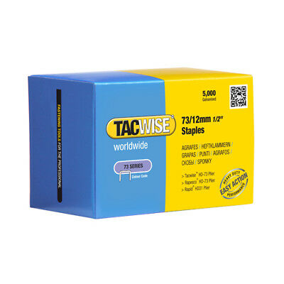 Tacwise 0457 Type 73 12mm Staples (5000) for Stapling Pliers Rapid, Rapesco