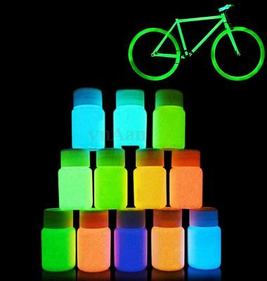 30g DIY Glow Luminous Paint Pigment Fluorescent Bright Party Decor 12 Colors