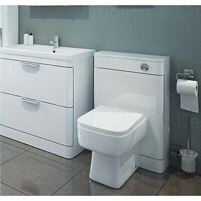 Sorentto Gloss White 600mm Basin and 550mm Toilet Unit WC Combination Suite