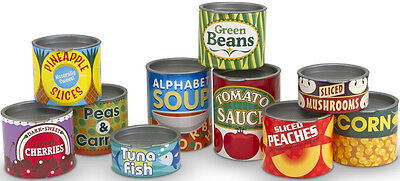 Melissa & Doug CANNED FOOD SET Pretend Play Toy/Gift Toddler/Child - New