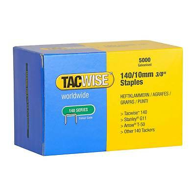 5,000 Tacwise 0342 Type 140 Series 10mm Staples Fits For Stanley G11, Arrow T-50