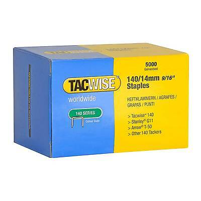 5,000 Tacwise 0344 Type 140 Series 14mm Staples Fits For Stanley G11, Arrow T-50