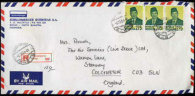 Indonesia 1984 Registered Airmail Cover To UK #C31558
