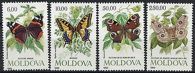 Moldova 1993 SG#94-7 Butterflies & Moths MNH Set #D3367