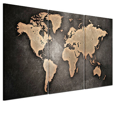 """Large """"World Map""""Modern Canvas Wall Art Unframed Canvas Print Home Decor Picture"""