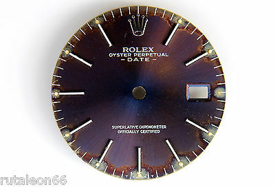 ROLEX OYSTER PERPETUAL DATE Genuine watch dial 27mm USED