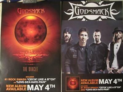 GODSMACK 2010 the oracle 2 sided promotional poster New Old Stock Flawless
