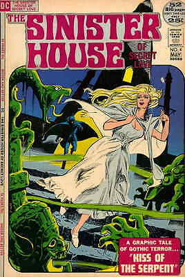 SINISTER HOUSE OF SECRET LOVE #4 VG, stamped bc, tear bc & 2 pgs, DC Comics 1974