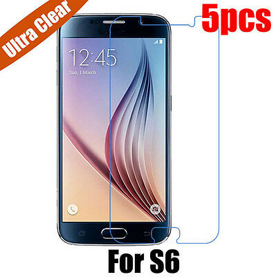 5x Ultra Clear LCD HD Front Screen Protector Film HS Cover For Samsung Galaxy S6