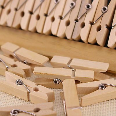 Selens Mini Wooden Home Decor Clothe Photo Paper Peg Clothespin Craft Clips