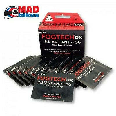 FogTech DX Anti-Fog solution for motorcycle visors & motocross goggles  25 PACK