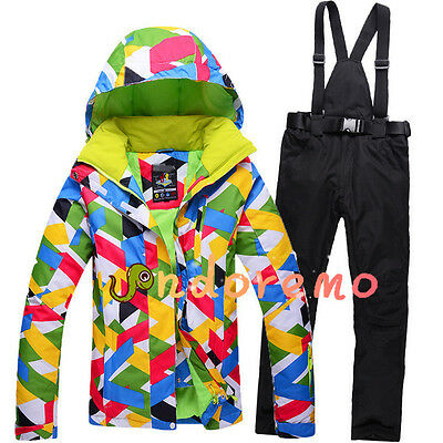 Women's Outdoor Waterproof Windproof Breathable Snowboard Ski Jacket or Pants