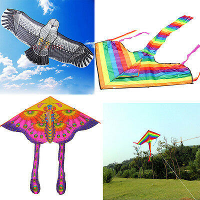 Huge Triangle Eagle Butterfly Novelty Animal Flying Kite Outdoor Kid Toys Gift
