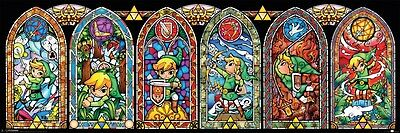 The Legend of Zelda Toon Link Stained Glass Slim Poster 91.5x30.5cm