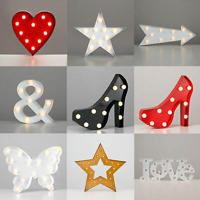 Rustic Novelty Battery Operated LED Circus Marquee Lights Decorative Wall Lamp
