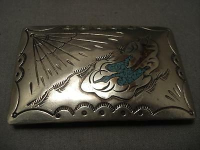 Important Vintage Navajo Singer Family Waterbird Silver Buckle Wow